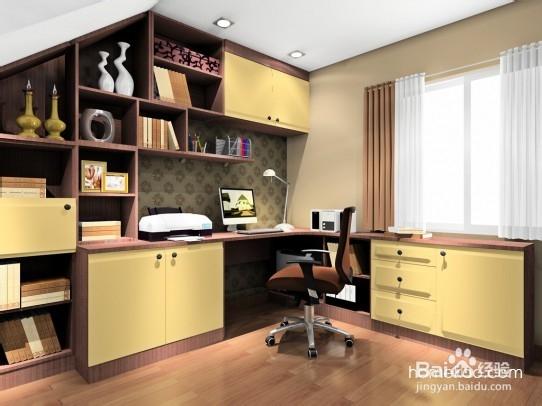 异型空间下书房设计效果图_小书房装修效果图 - 核雕